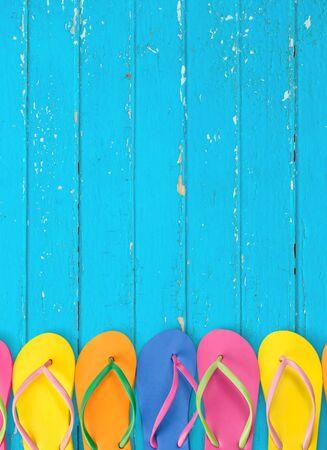 top seven: Summer, Flip-flop, Fun. Stock Photo
