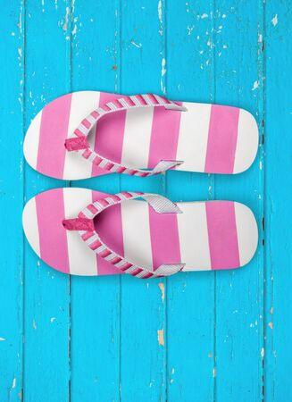 sandalia: Flip-flop, Sandalia, Rosa. Foto de archivo