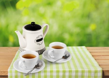 Tea, Afternoon Tea, Teapot. Stock Photo