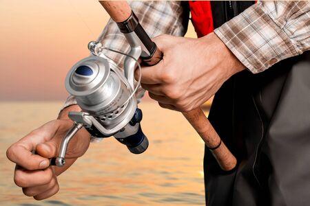 fishing reel: Fishing, Fisherman, Fishing Reel.