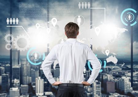 Maze, career, business. Standard-Bild