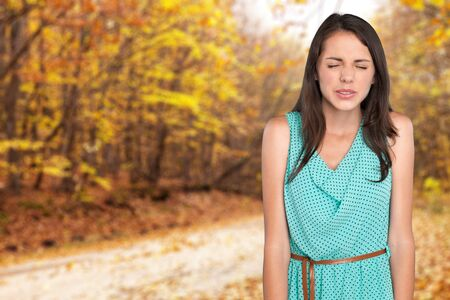 laughing face: Women, Sadness, Cheerful. Stock Photo
