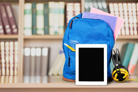 back icon: Smart Tablet, Education, Backpack.