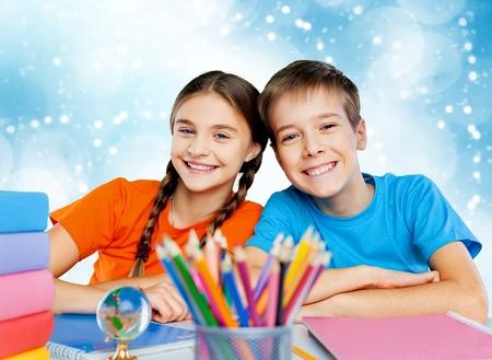 grade school: School children, kid, student.