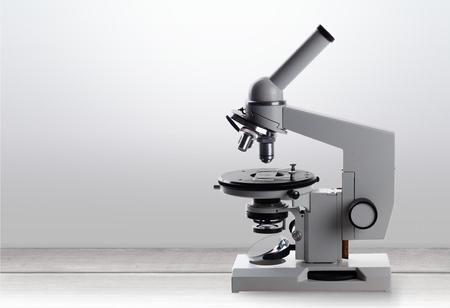 Mikroskopie, schule, Chemie. Standard-Bild