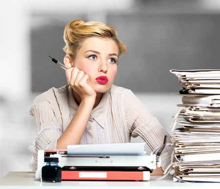 secretary desk: Secretary, desk, document.