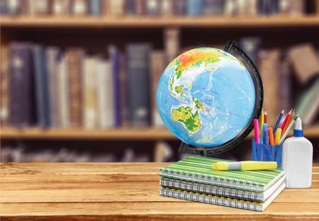 student studying: Globe, student, studying.