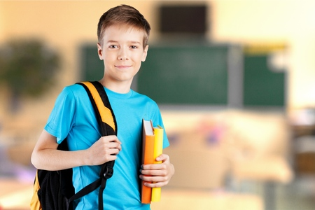 School kid, boy, classroom. Stock Photo - 43199204
