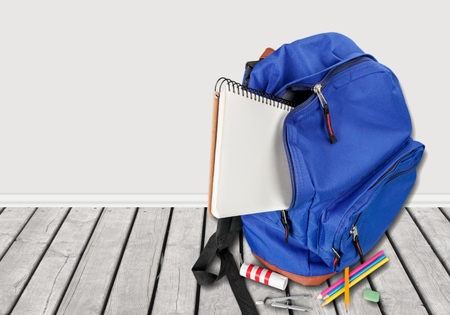 supply: School, backpack, back. Stock Photo