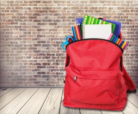 mochila escolar: Mochila, escuela, bolsa.