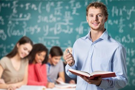 school exam: Teacher, exam, studying.