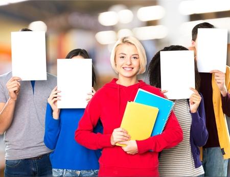 alumno estudiando: School, student, studying. Foto de archivo