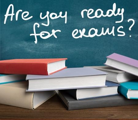試験、学生、ストレス。