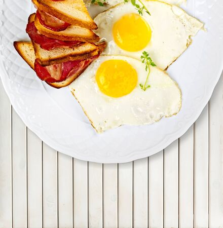 eggs and bacon: Breakfast, Eggs, Bacon.