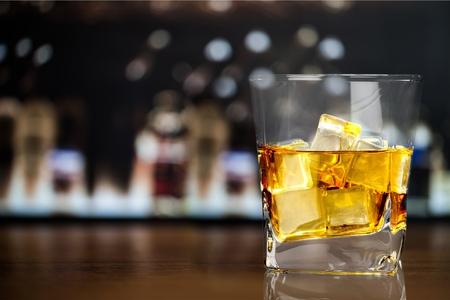 close to: Whisky, bar, shop. Stock Photo
