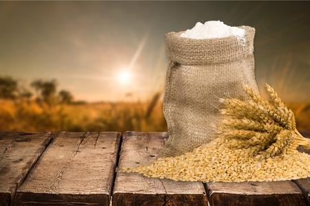 wheat flour: Wheat, Flour, Sack.