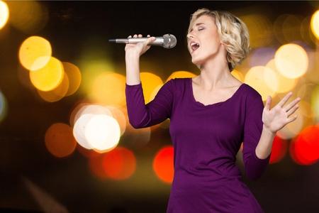 using voice: Karaoke, Singer, Female.