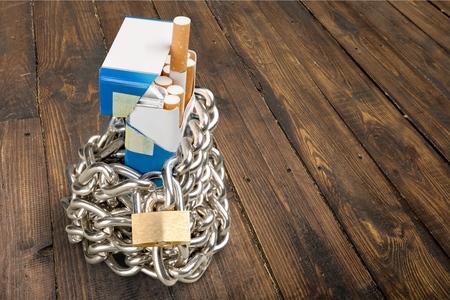 stop smoking: Stop Smoking, Cigarette, Chain. Stock Photo