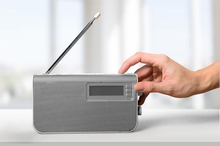 listening to music: Radio, Listening, Human Hand.