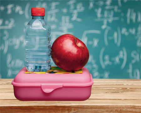 FOOD BOX: Lunch Box, Education, School. Stock Photo