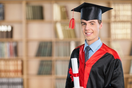 high school series: Graduation, Student, University. Stock Photo
