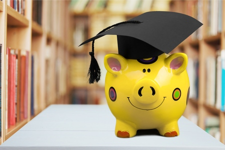 education loan: Graduation, Student, University. Stock Photo
