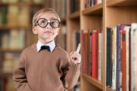 smart boy: Kid, smart, asian. Stock Photo