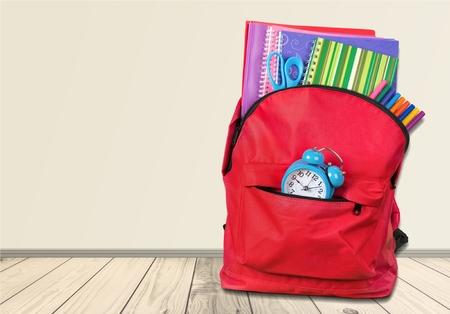 rucksack ': School, backpack, back. Stock Photo