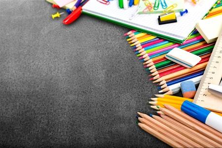 chalk board: School.