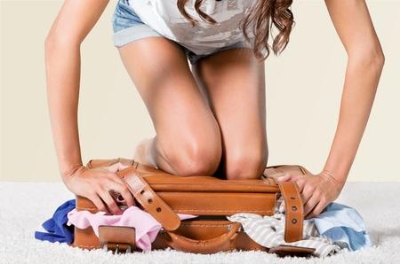maletas de viaje: Maleta, equipaje, Embalaje. Foto de archivo