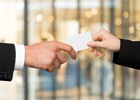 Business Card, Ticket, Human Hand.