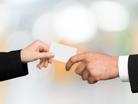 exchanging: Business Card, Ticket, Human Hand.