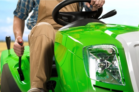 cut outs: Lawn Mower, Tractor Gardening.