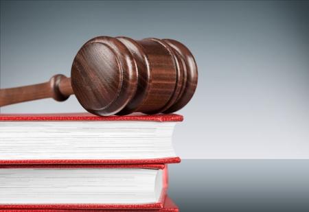 ley: Ley, Libro, Mazo. Foto de archivo