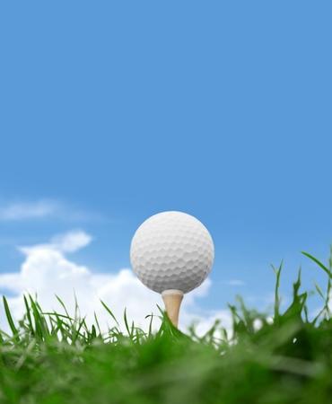 golf ball on tee: Golf, Golf Ball, Golf Course.