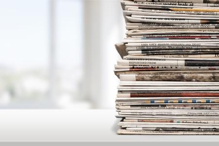Newspaper, Stack, Print Media.