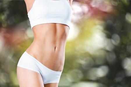 curvas: Delgado, de adelgazamiento, bikini. Foto de archivo