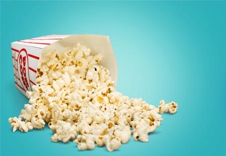 spilling: Popcorn, Spilling, Isolated.