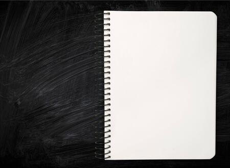 spiral notebook: Spiral Notebook, Note Pad, Ring Binder. Stock Photo