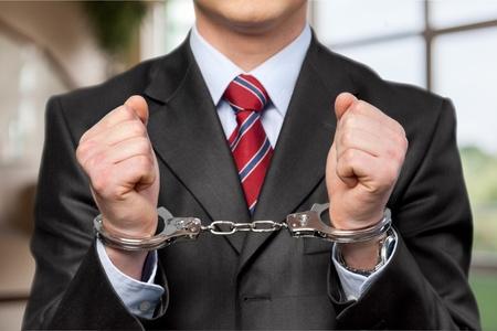 crime: Handcuffs, White Collar Crime, Criminal.