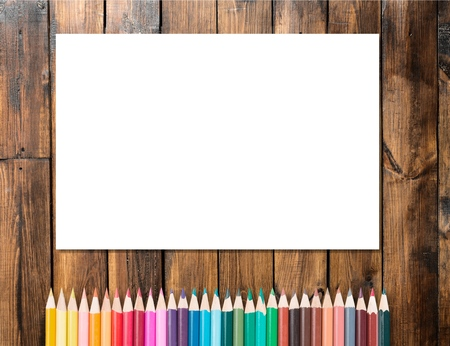 descriptive: Pencil, Color Image, Descriptive Color. Stock Photo
