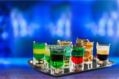 shooter drink: Bar, drink, shooter. Stock Photo