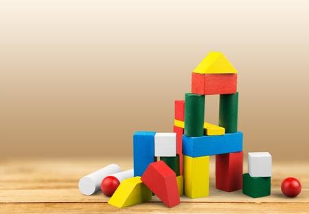 kindergarten toys: Toy, kid, wooden. Stock Photo