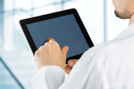 医師、医療、タブレット。