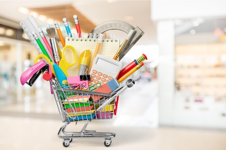Back to School, Education, Shopping. Stock Photo