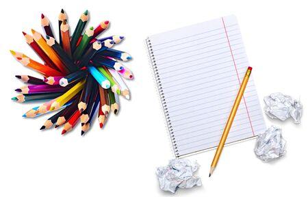 descriptive: Pencil, Color Image, Descriptive Color. Stock Photo