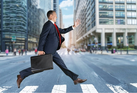 concept images: Running, Men, Business.