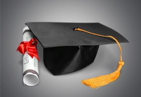 white achievement: Graduation, Mortar Board, Diploma.