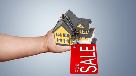 estate: Real Estate, House, Real Estate Sign. Stock Photo