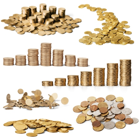 gold coins: Coins, Currency, Falling.